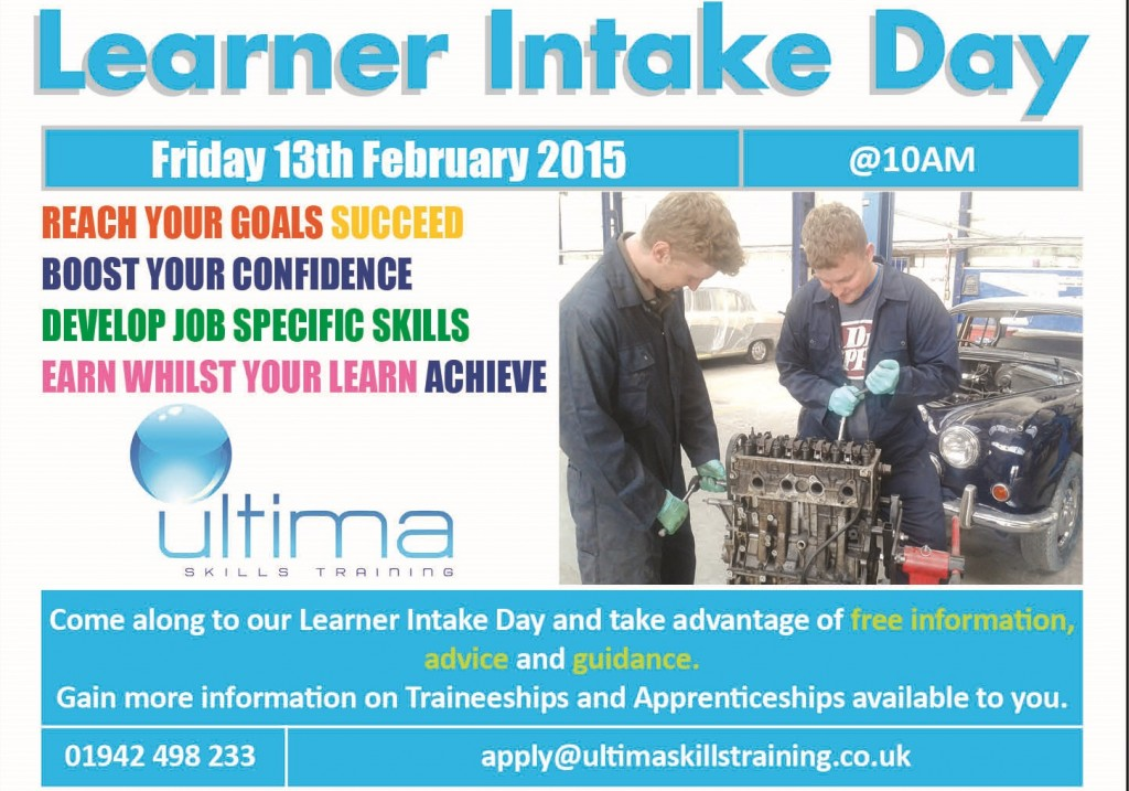 Ultima Skills A5 Learner Day Leaflets website